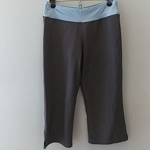 Nike Fit Dry Athletic Gray & Blue Pants Size S